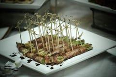 Спаржа обернутая с беконом pancetta стоковое фото