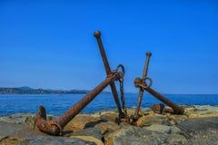 Спарите анкеров St Tropez стоковые изображения rf