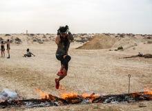Спартанская гонка Дубай стоковые изображения