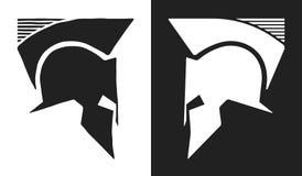 Спартанский логотип шлема Стоковые Изображения
