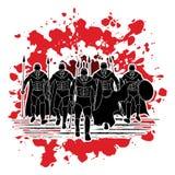 спартанский ратник иллюстрация вектора