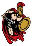 Спартанский римский или троянский ратник древнегреческия гладиатора Стоковое Фото