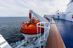 Спасательные лодки на пароме Стоковое Изображение RF