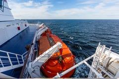 Спасательные лодки на пароме Стоковые Фотографии RF