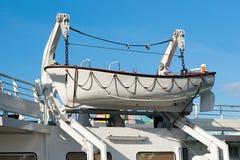 Спасательная шлюпка на механической лебедке шлюпки Стоковое Изображение