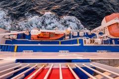 Спасательная шлюпка пассажирского парома груза Стоковая Фотография
