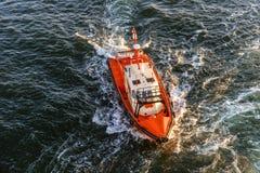 Спасательная шлюпка службы береговой охраны. Стоковое Изображение RF
