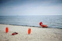 Спасательное оборудование пляжа личной охраны стоковое изображение