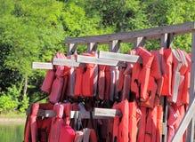 Прокат спасательного жилета Стоковая Фотография