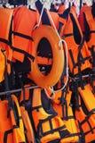 Спасательный жилет и кольцо жизни Стоковое Изображение RF
