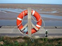 Спасательный пояс на Leasowe Стоковое Изображение RF