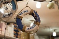 Спасатель или спасательный жилет с веревочкой вокруг Стоковое Фото