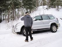 спасение автомобиля Стоковые Изображения RF