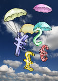 спасение валюты иллюстрация вектора