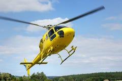 Спасение вертолета, вертолет в воздухе пока летающ Стоковое Изображение RF