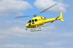 Спасение вертолета, вертолет в воздухе пока летающ Стоковое Изображение