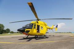Спасение вертолета, вертолет на том основании Стоковое Изображение
