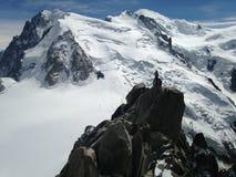 Спасение вертолета на станции Aiguille du Midi Стоковое фото RF