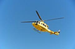 Спасение вертолета, Campo Imperatore, Gran Sasso, Италия Стоковые Изображения RF