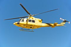 Спасение вертолета, Campo Imperatore, Gran Sasso, Италия Стоковое Фото