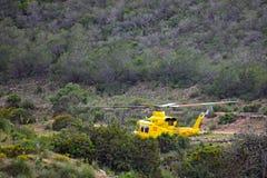 Спасение горы вертолета спасения Стоковая Фотография RF
