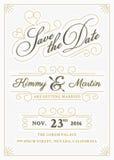Спасение года сбора винограда стиль letterpress карточки даты Стоковые Фото
