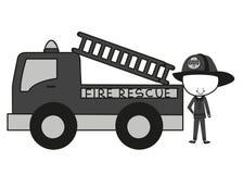 Спасение огня пожарных Doodle Стоковое Изображение RF