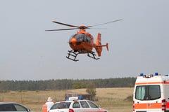 спасение посадки вертолета Стоковые Изображения RF