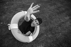 Спасение человека Стоковая Фотография RF