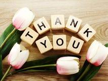 Спасибо алфавит помечает буквами предпосылку слова деревянную с винтажным фильтром стоковые изображения