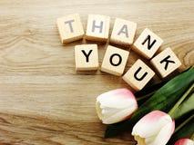 Спасибо алфавит помечает буквами предпосылку слова деревянную с винтажным фильтром стоковая фотография rf