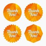 Спасибо значок знака Символ обслуживания клиента Стоковые Фотографии RF