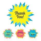 Спасибо значок знака Символ обслуживания клиента Стоковое фото RF