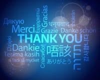 Спасибо многоязычная предпосылка Стоковое Изображение RF