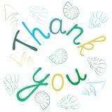 Спасибо поздравительная открытка литерности руки Стоковое Изображение