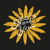 Спасибо помечающ буквами Стоковое Фото