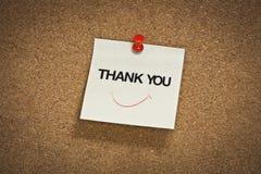 Спасибо слово на блокноте стоковое изображение rf