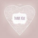 Спасибо стиль карточки винтажный Стоковое Изображение