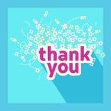 Спасибо шаблон дизайна карточки Стоковое Изображение