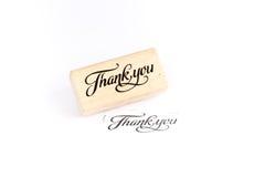 Спасибо штемпель Стоковые Фото
