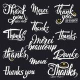 Спасибо, beaucoup merci, danke- типографское бесплатная иллюстрация
