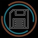 Спасительный значок - символ компьютера - хранение памяти иллюстрация штока