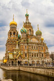 Спаситель-на--кровь православной церков церков Стоковое Фото