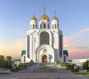 спаситель christ собора Калининград, Россия Стоковая Фотография