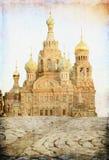 спаситель petersburg России крови разлил st Стоковая Фотография