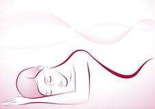 Спать девушка Стоковое Изображение