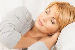 Спать женщина Стоковое Фото