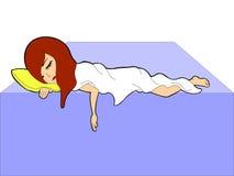 спать красотки Иллюстрация вектора