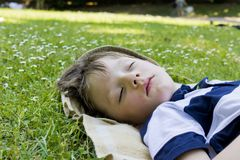 спать мальчика Стоковое Фото