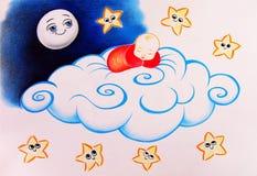 спать младенца Бесплатная Иллюстрация
